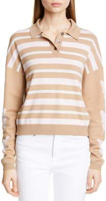 Sandy Liang Boothbay Merino Wool Polo Sweater
