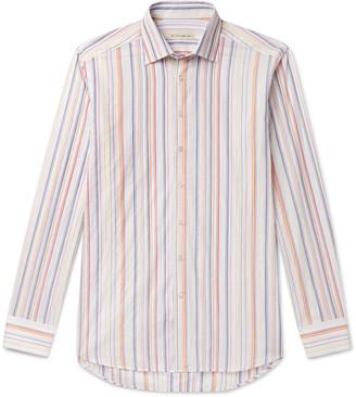 Etro Slim-Fit Striped Cotton-Blend Shirt
