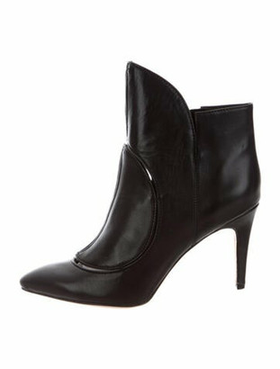Camilla Skovgaard Leather Cutout Accent Boots Black