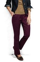 Classic Women's Petite Mid Rise Straight Leg Chino Pants-Dark Maroon