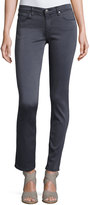 AG Jeans The Prima Low-Rise Cigarette Jeans, Gray