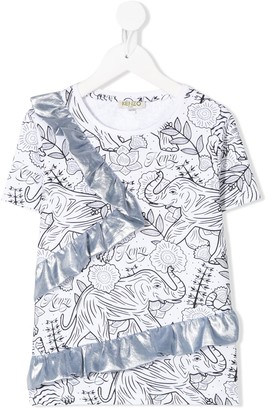Kenzo Kids elephant print T-shirt
