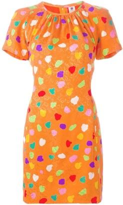Dot Print Jacquard Dress