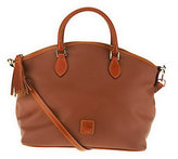Dooney & Bourke As Is Spicy Fabric Satchel w/ Honey Trim