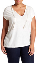 Susina Tassel Slub Short Sleeve Tee (Plus Size)