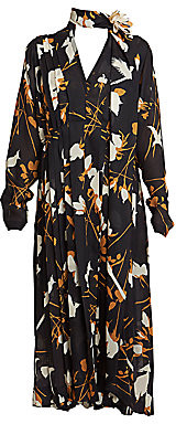 Victoria Beckham Women's Floral Pleated Dress