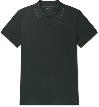 A.P.C. Contrast-Tipped Cotton-Pique Polo Shirt