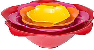 Zak Designs Rose 4-pc. Serving Bowl Set