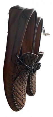 Bottega Veneta Brown Leather Flats