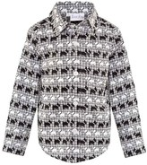 Rachel Riley Black and Ivory Scotty Dog Print Shirt