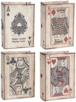 A&B Home A & B Home A & B Home 5.5 in. x 2 in. Decorative Book Boxes (4-Pack)
