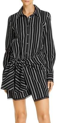 Derek Lam 10 Crosby Eunice Tie-Waist Striped Shirtdress