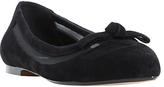 Dune Bleame Bow Trim Ballet Shoes, Black
