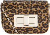 Accessorize Lola Leopard Mini Turnlock Cross Body Bag