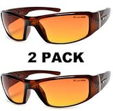 Moda HD Vision Anti-Glare Driving Glasses X-Loop 2 PACK w/ Free Micro Fiber Bag