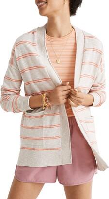 Madewell Bradley Textured Stripe Cardigan