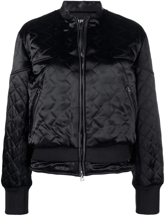 Tom Ford quilted satin bomber jacket