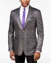 Tallia Men's Slim-Fit Black/Metallic Silver Sport Coat
