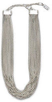 Kenneth Cole Pave Multi Row Silver Necklace