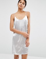 Vila Metallic Satin Cami Dress