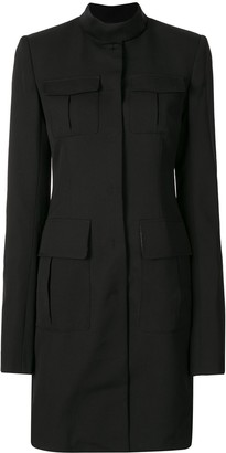 Vera Wang Multiple Pocket Single-Breasted Coat