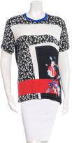 Prabal Gurung Floral Colorblock Short Sleeve Shirt