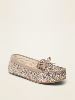 Old Navy Sherpa-Lined Glitter Moccasins for Women