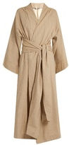 THREE GRACES LONDON Isabella striped cotton robe