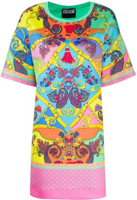 Versace Jeans Couture paisley-print T-Shirt dress