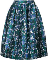 Oscar de la Renta printed shiny skirt - women - Silk/Cotton - 2