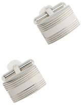 J.Crew Rectangle silver cuff links