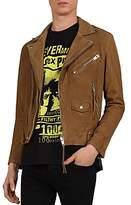 The Kooples Suede Moto Jacket