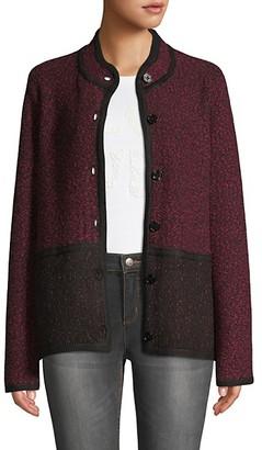 Karl Lagerfeld Paris Marble Colorblock Tweed Jacket