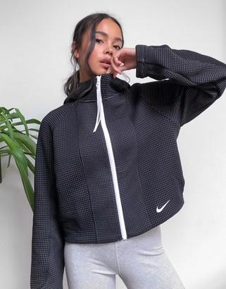 Nike engineered tech fleece hoodie in black
