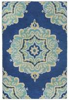 Liora Manné Lalunita Medallion 8-Foot x 10-Foot Area Rug in Navy