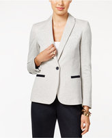 Tommy Hilfiger One-Button Contrast-Trim Blazer