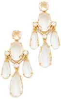 Kate Spade Crystal Cascade Statement Earrings