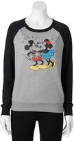 Disney Disney's Juniors' Mickey & Minnie Mouse Graphic Sweatshirt