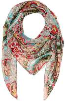 Barneys New York WOMEN'S FLORAL SILK SCARF