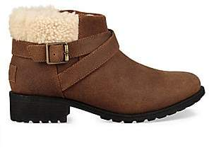 UGG Women's Benson Faux Fur Leather Boots