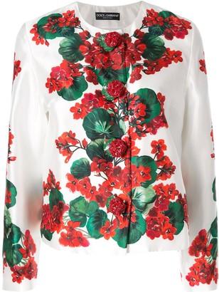 Dolce & Gabbana Portofino print mikado jacket