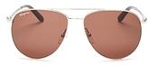 Salvatore Ferragamo Aviator Sunglasses, 60mm