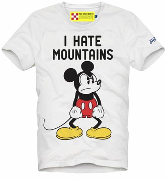 MC2 Saint Barth Mickey Mouse T-shirt Man I Hate Mountain Print - Disney Special Edition