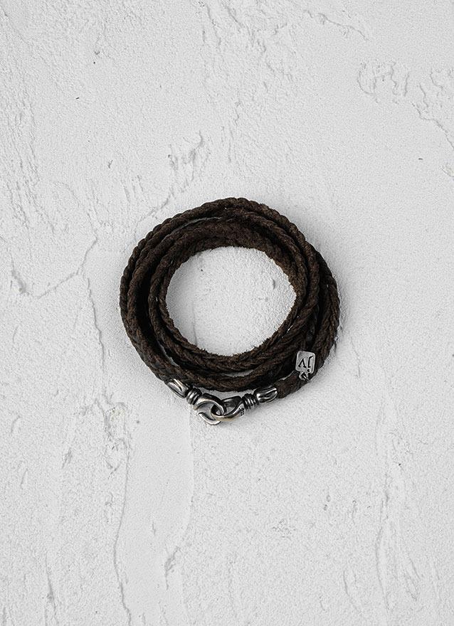 John Varvatos Braided Wrap Bracelet