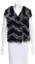 Marc by Marc Jacobs Knit Rabbit Fur Vest