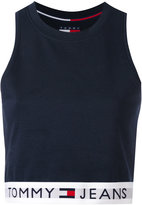Tommy Jeans cropped tank top - women - Cotton/Polyester/Spandex/Elastane - M
