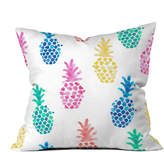 Deny Designs Dash And Ash Pineapple Paradise Outdoor Throw Pillow