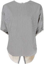 Bassike striped cropped circle top