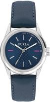 Furla Women's Eva Sunray Blue Dial Watch, 35mm