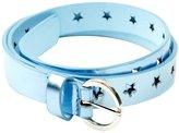 Peppercorn Kids Metallic Star Belt-Silver Ice-M-L